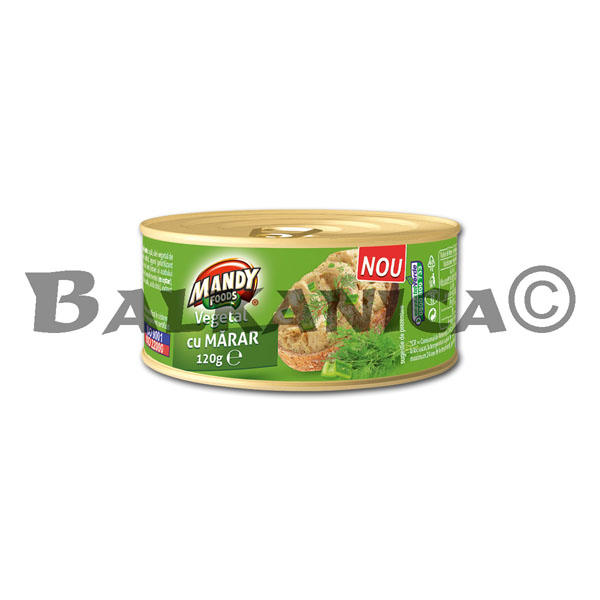 120 G PATE VEGETABLE DILL MANDY