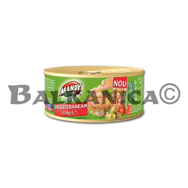 120 G PATE VEGETABLE MEDITERRANEA MANDY