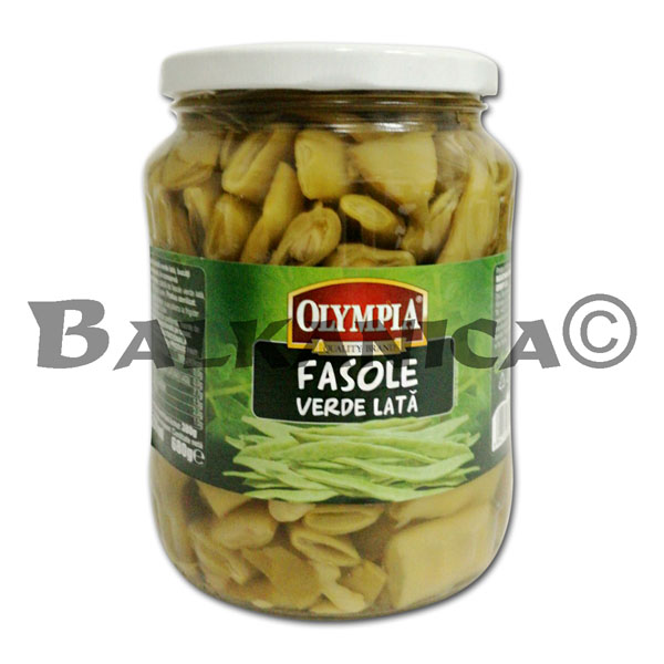 680 G GREEN BEANS CAN OLYMPIA