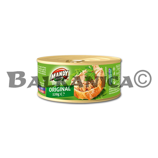 120 G PATE VEGETABLE ORIGINAL MANDY