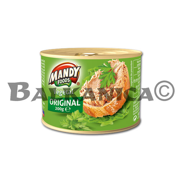 200 G PATE VEGETABLE ORIGINAL MANDY