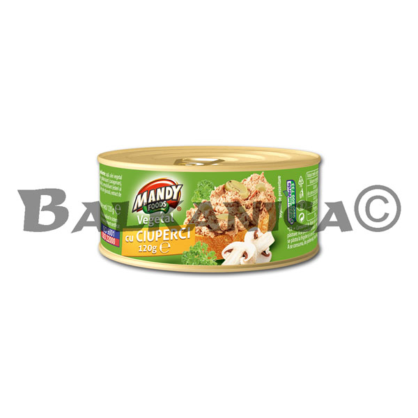 120 G PATE VEGETABLE MUSHROOMS MANDY
