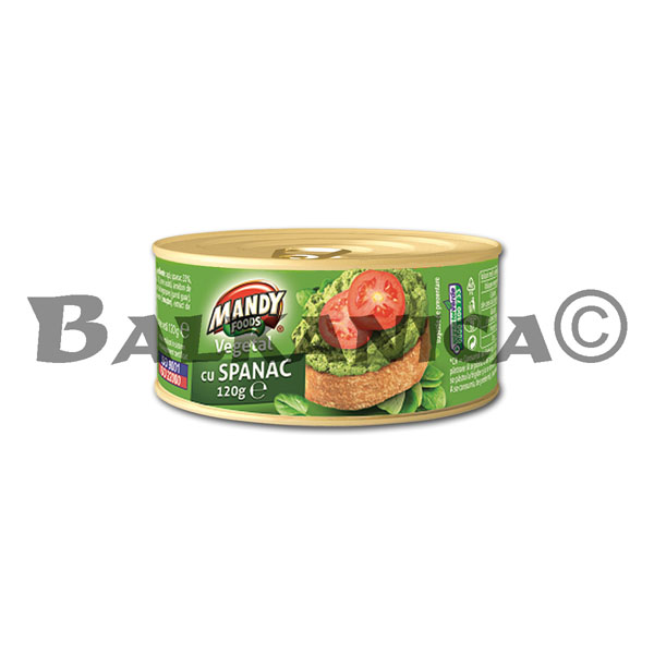120 G PATE VEGETABLE SPINACH MANDY