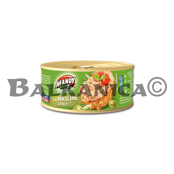 120 G PATE VEGETABLE OLIVES MANDY