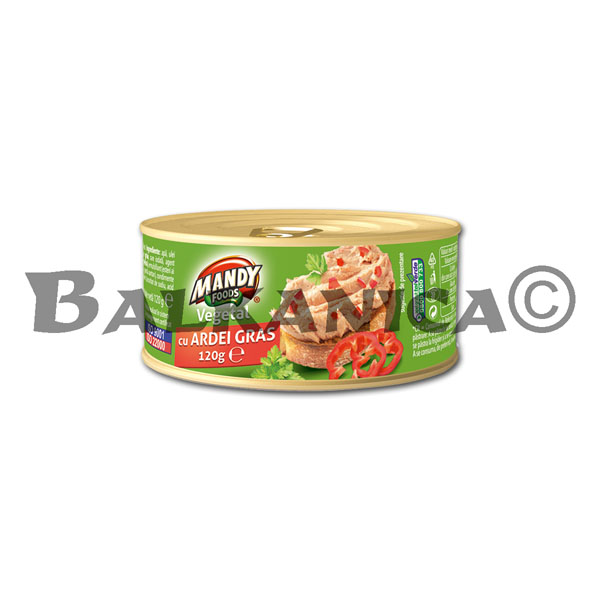 120 G PATE VEGETABLE PEPPERS MANDY