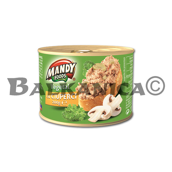 200 G PATE VEGETABLE MUSHROOMS MANDY