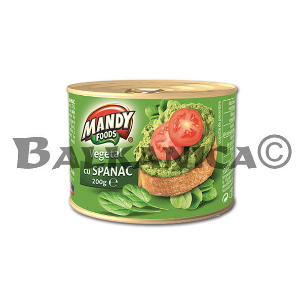200 G PATE VEGETABLE SPINACH MANDY