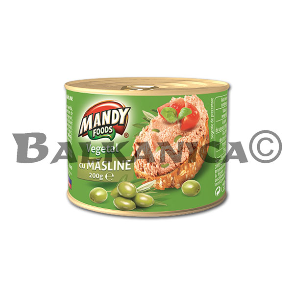 200 G PATE VEGETABLE OLIVES MANDY