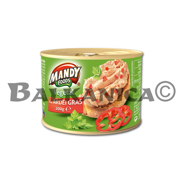 200 G PATE VEGETABLE WITH PEPPERS MANDY
