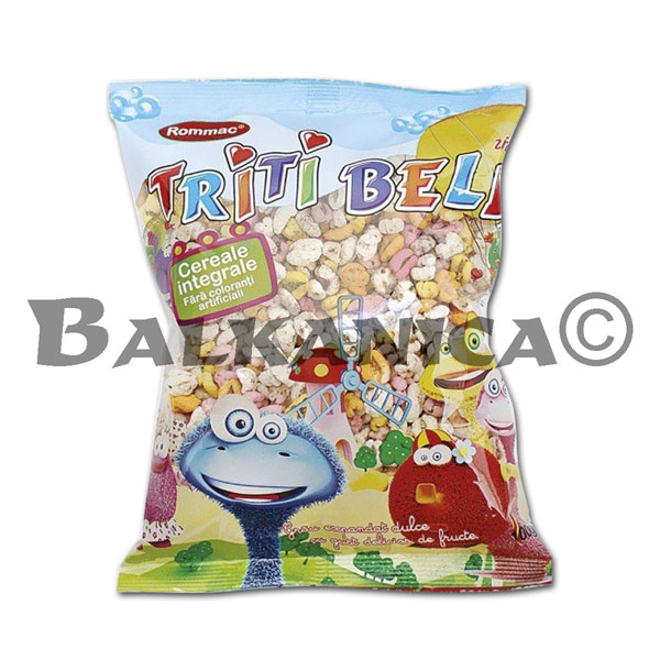 100 G SWEET PUFFED RICE WITH FRUITY FLAVOR TRITI BELL