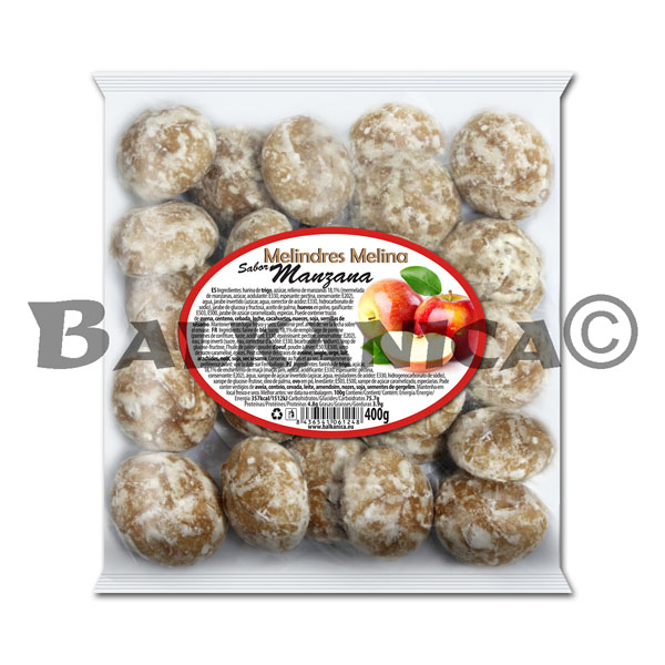 400 G COOKIES WITH FILLING OF APPLES MELINA