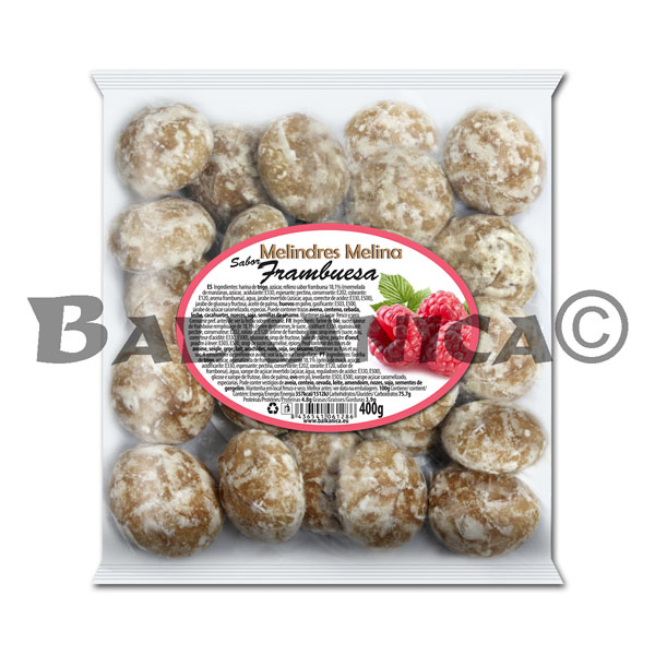 400 G COOKIES WITH FILLING OF RASPBERRY FLAVOR MELINA