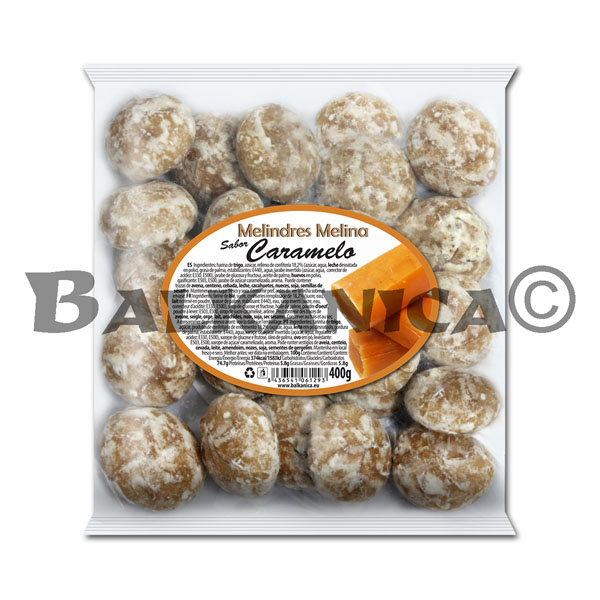 400 G COOKIES WITH FILLING OF CARAMEL FLAVOR MELINA