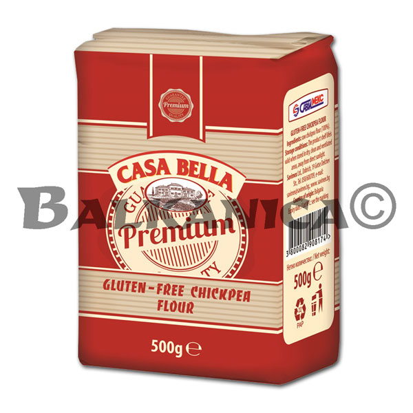 500 G FLOUR FROM CHICKPEAS WITHOUT GLUTEN CASA BELLA