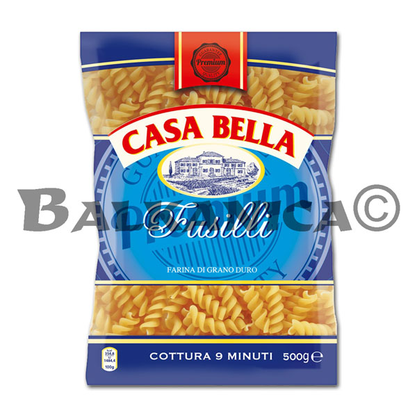 500 G PASTA FUSILLI FROM DURUM WHEAT CASA BELLA