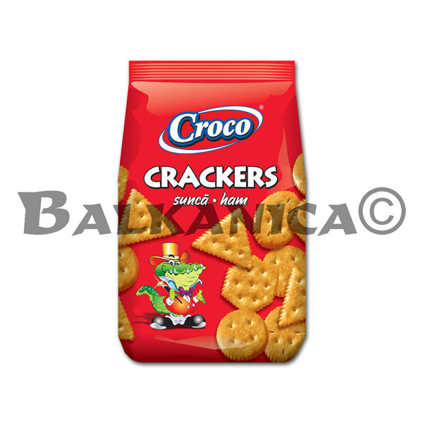 100 G CRACKERS HAM CROCO