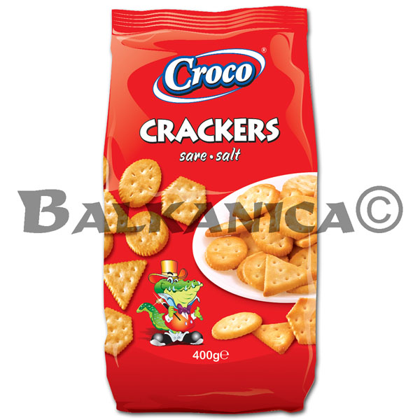 400 G CRACKERS SALT CROCO