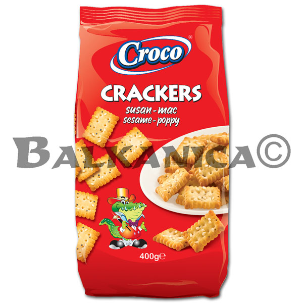 400 G CRACKERS SESAME AND POPPY CROCO