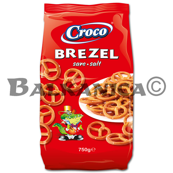 750 G PRETZEL STICKS SALT CROCO