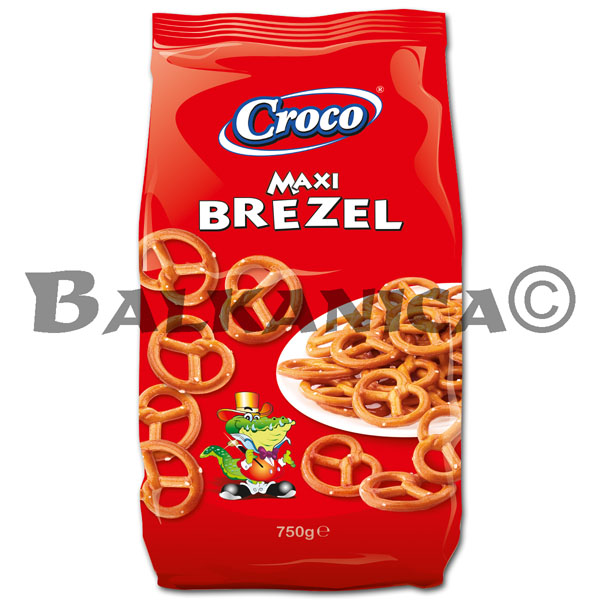 750 G BAGELS PRETZELS WITH SALT CROCO