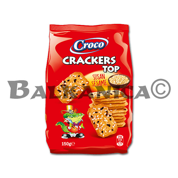 150 G CRACKERS WITH SESAME TOP CROCO
